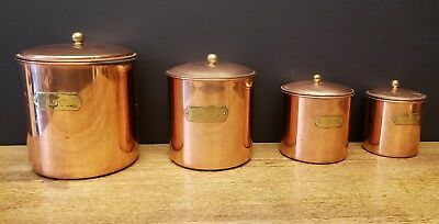 Vintage Copper Storage Cans