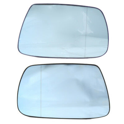 2Pcs Side Wing Blue Mirror Glass Wide Angle Heated for Jeep Grand Cherokee 05-10