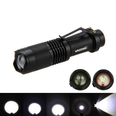 Mini 5000LM XM-L T6 LED Zoomable Flashlight Torch Light Hunting Lamp Camping HOT