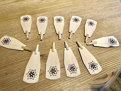 Lot of 11 Blades for Wooden Christmas PYRAMID NATIVITY CAROUSEL  -Replacements