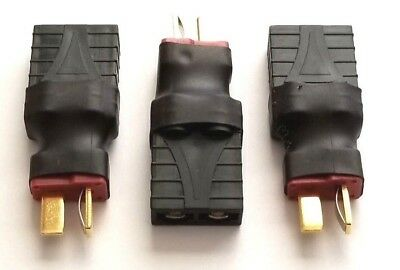 3 Pcs Female Traxxas TRX to Male T-plug Deans Connector Adapter No Wires