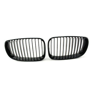 Pair of Gloss Black Front Grille Fit for BMW E81 E82 E87 E88 1-Series 2008-2011