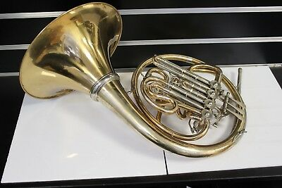 French horn H. Hoyer Bb / F comp. gold brass
