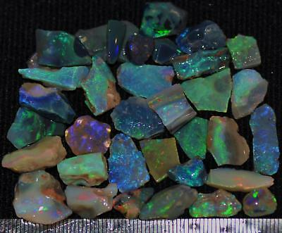 100 Cts Solid Gem Quality Lightning Ridge Rough And Rough Rubbed Opal Parcel 66