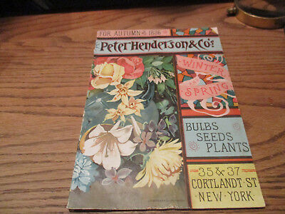 1886 Peter Henderson Seed Catalog In Excellent Condition