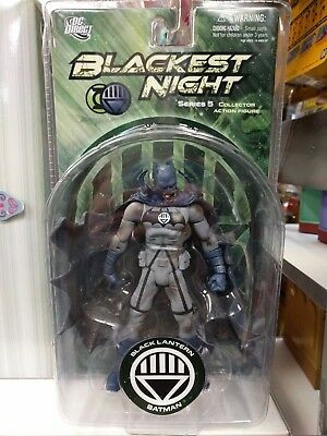 Dc Direct Blackest Night Series 5 Black Lantern Batman Action Figure Nib