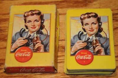 Coca-Cola,WWII Airplane Spotter Playing Cards Deck1941-45 Delicious & Refreshing
