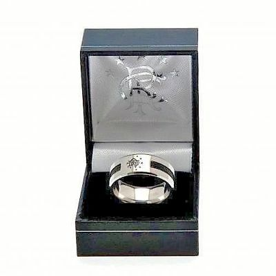 Glasgow Rangers Fc Stainless Steel Crest Ring Band Gift Box Football Souvenir