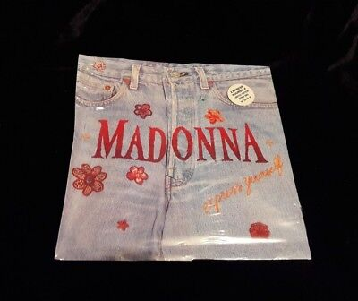 Madonna express yourself 7 inch zipper sleeve stickered limited edition uk
