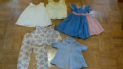Vintage Hand Made Doll Clothes 6 Pieces larger doll 1950s