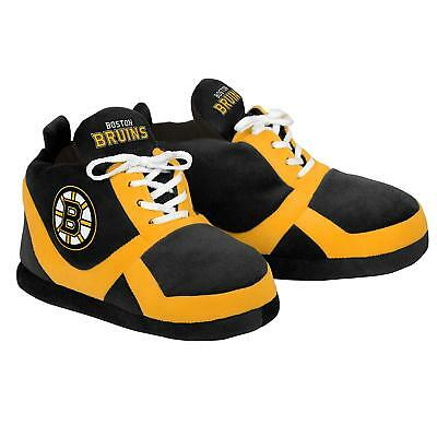 39ffe1809c6 Boston Bruins NHL Men s Team Slip-on Lace Puffy Sneaker Slippers  S-XL