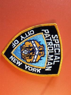New york  city  police department  special patrolman patch