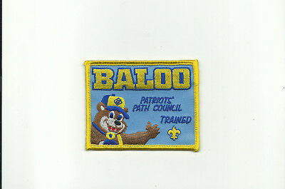 Scout Bsa Patriots' Path Council Baloo Trained Cub Training Bear Patch Badge !!!