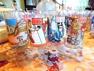 Vintage Star Wars Return Of The Jedi Burger King Glass  Set Mint New 1983