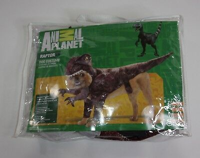 Animal Planet Raptor Dinosaur Dog Costume Dress Up Size Medium NEW in Package