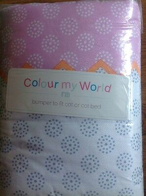 Mothercare Colour My World Cot Or Cot Bed Bumper ...Bnip