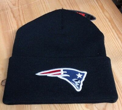 New England Patriots Black  Winter  Hat Scull Cap Beanie Cuffed Hat