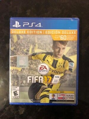 Brand New Sealed FIFA 17 Deluxe Edition PS4 Sony PlayStation 4
