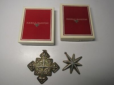 Vintage Sterling Silver Reed & Barton Christmas Cross 1979 & 1976 Christmas Star