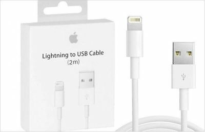 GENUINE 2M Lightning to USB Cable for iPhone 7, 6, 5s  Plus iPad -OEM Apple NEW