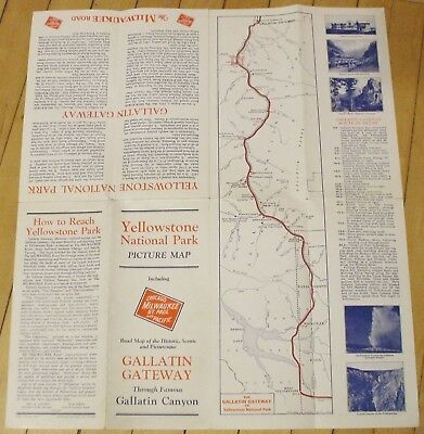 Original 1930's Wyoming Brochure Gallatin Canyon Yellowstone Nice Condition