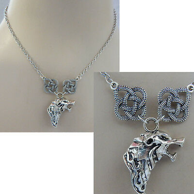 Wolf Necklace Silver Wolf Jewelry Handmade NEW Adjustable Fashion Celtic Chain