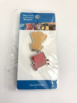 Disney Pixar UP Carl Ellie Chairs Loungefly Pin Set