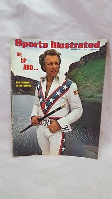 Vintage 1974 Sports Illustrated  Evel Knievel Cover Photo September 2