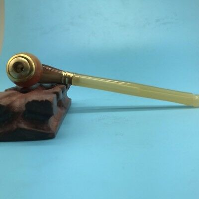 Rare And Ancient Chinese Cigarette Holder Made Of Ox Horn G78