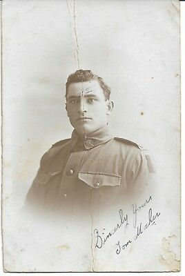 WWI NAMED TOM MAHER #3520 AIF SOLDIER 55th BTN PHOTO POSTCARD