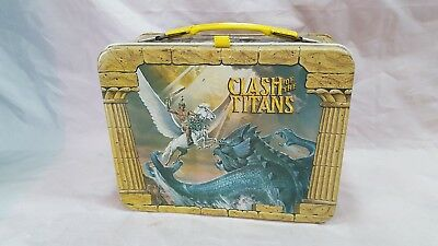 VINTAGE 1980 CLASH OF THE TITANS MOVIE METAL LUNCH BOX only KING SEELEY
