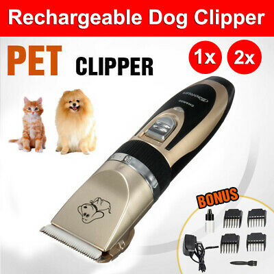 Cordless Electric Rechargeable Dog Clipper Grooming Comb Set Pet Hair Wireless