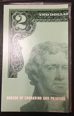 2003 Series Of 4 Uncut $2 Bill Sheet Dallas Federal Res Serial #'s xxxxx815 A