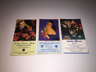 3 Advertising Ink Blotters Cedar Rapids Iowa