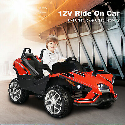 12V Kids Ride on Cars Electric Battery Remote Control Light Truck Music Red