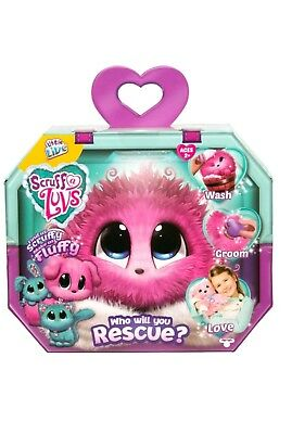 Little Live Pets SCRUFF-A-LUVS- PINK Mystery Rescue Pet Bunny, Kitty, or Puppy