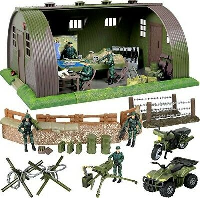 Base Barrack Command Center Play Set Authentic Highly Detailed Design Kids Toys