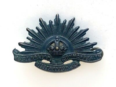 AUSTRALIAN COMMONWEALTH MILITARY FORCES Rising Sun HAT BADGE WWI WWII