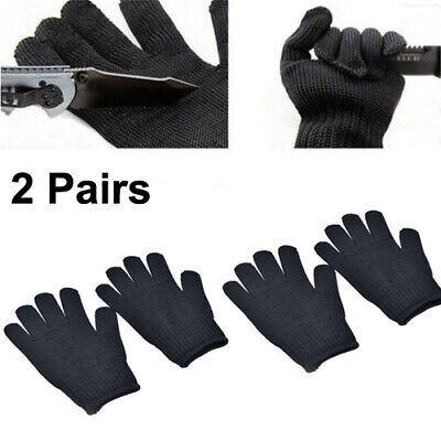 25cm Stainless Steel Safety Anti-Slash Resistance Cut Proof Glove 2pcs Set