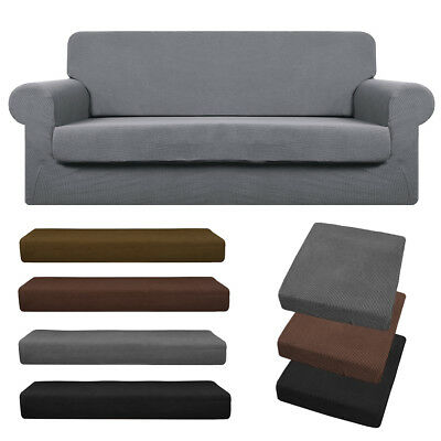 1/2/3 Sofa Covers Couch Slipcover Stretch Elastic Fabric Settee Protector Fit