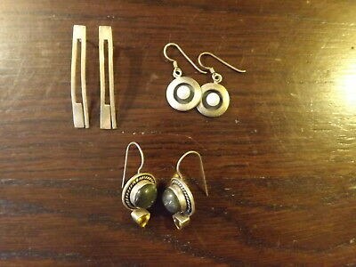 Vintage Sterling Silver Earrings 3 Pair