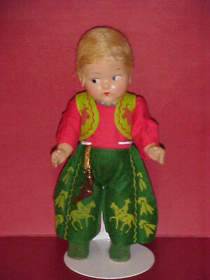 1940's Toddles Doll + 1954 VOGUE #38 Twin Series Red & Green Cowboy Outfit
