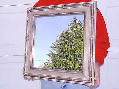 Linen Textured Framed Mirror Champagne Cocoa Accent Longaberger New