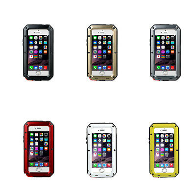 Waterproof Shockproof Aluminum Alloy Protective Case for iPhone 5/6/6S/7/8/XS
