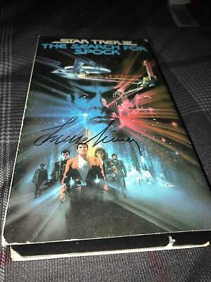 Leonard Nimoy Signed Autograph Star Trek III The Search For Spock VHS