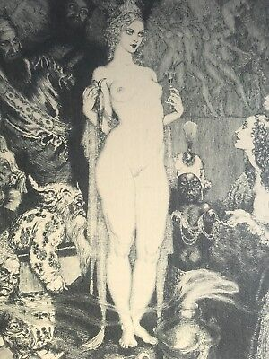 Norman Lindsay - priestess to Magi. No 286/ 550 Limited edition etching 1986