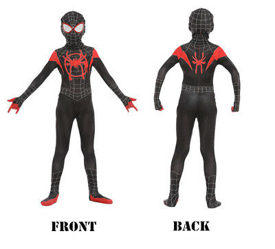 Spider-Man: Into the Spider-Verse Miles Morales Kids Cosplay Costume Zentai