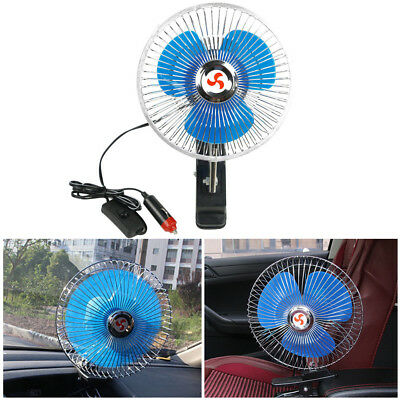 UK Portable Dashboard Vehicle Auto Car Cooling Oscillating Fan Clip-On 8'' 12V