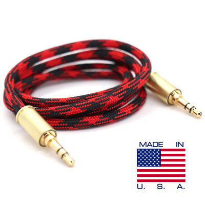 Double Tap Durable Brass Bullet Auxiliary Cable 2ft 4ft 6ft