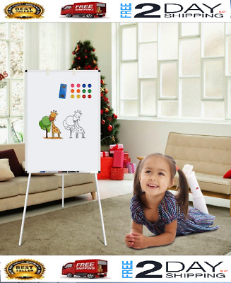 Dry Erase Board, 24x36' Magnetic White Board w Tripod Stand, Adjustable Height
